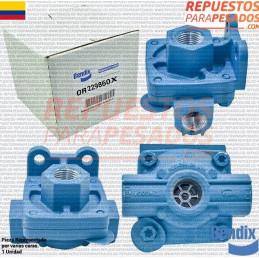 VALVULA ESKPRAPIDO QR1 3/8 SALIDAS 1/2 ENTRADA -OR229860X (REMAIN) BENDIX