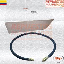 MANGUERA FRENO 3/8ID X 3/4 OD 1/4 P T,48INCH SAP